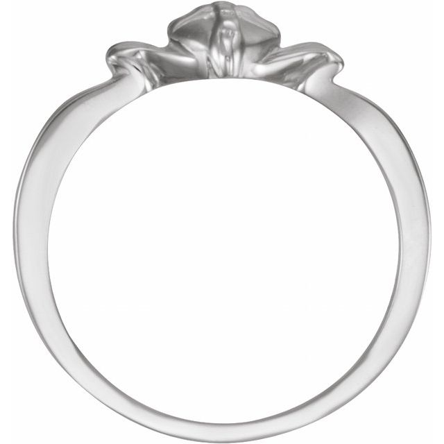 Sterling Silver The Gift Wrapped Heart® Ring Size 4
