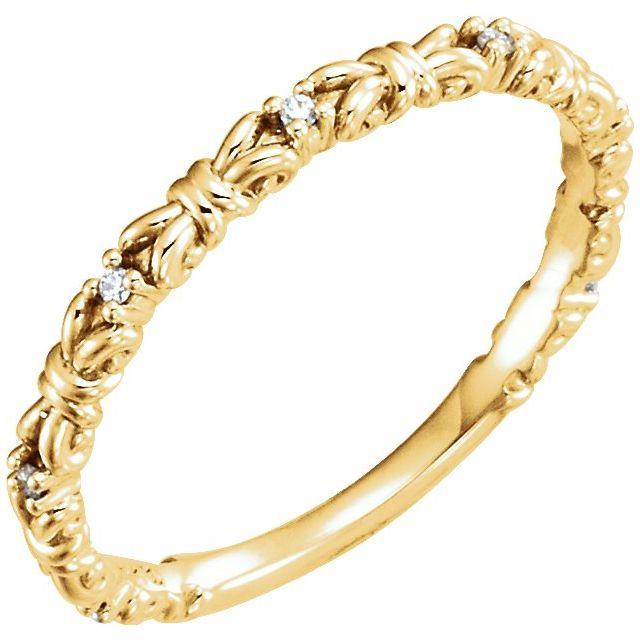 14K Yellow .04 CTW Diamond Stackable Ring