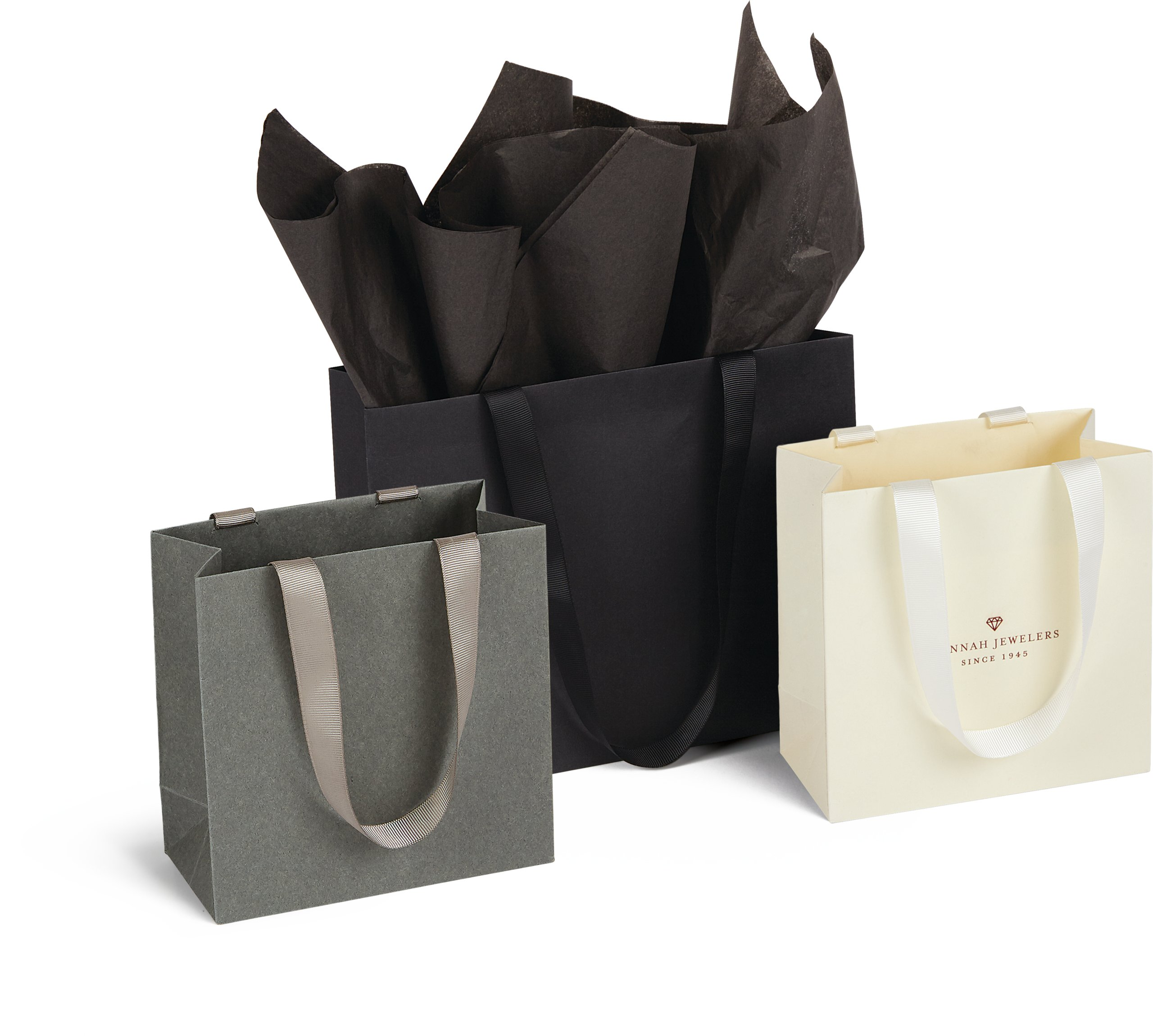 Ribbon Handle Paper Totes