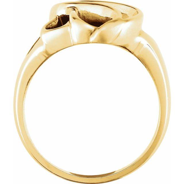 14K Yellow Metal Fashion Ring