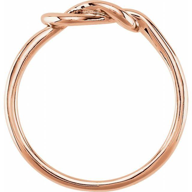 14K Rose 6 mm Knot Ring