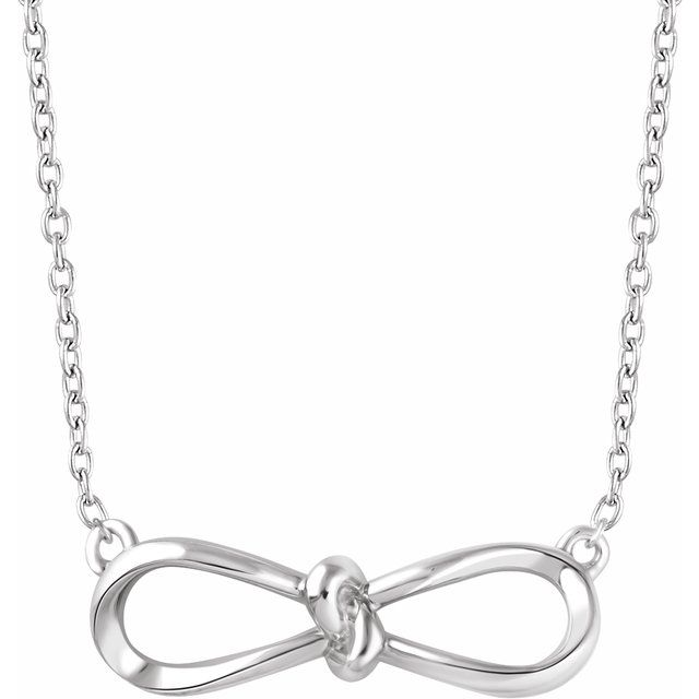 Sterling Silver Bow 18