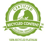 SCS-Certified 100% Recycled Platinum