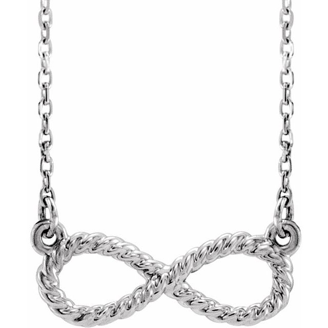 Sterling Silver Rope Infinity-Inspired 18