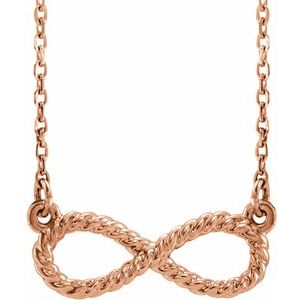 "14K Rose Rope Infinity-Inspired 18"" Necklace"