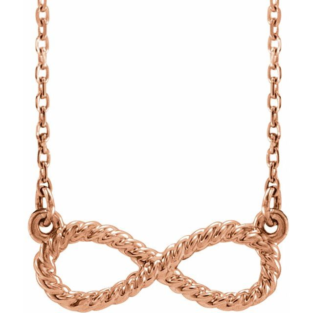 14K Rose Rope Infinity-Inspired 18