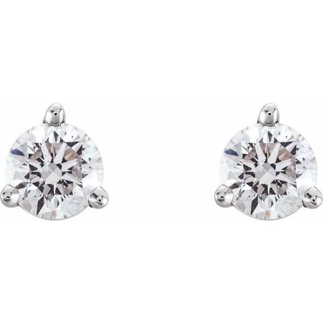 14K White 1/3 CTW Diamond Earrings