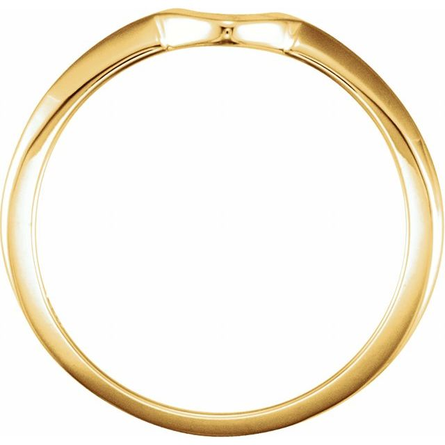 14K Yellow .38 CT Band for Solitaire Mounting