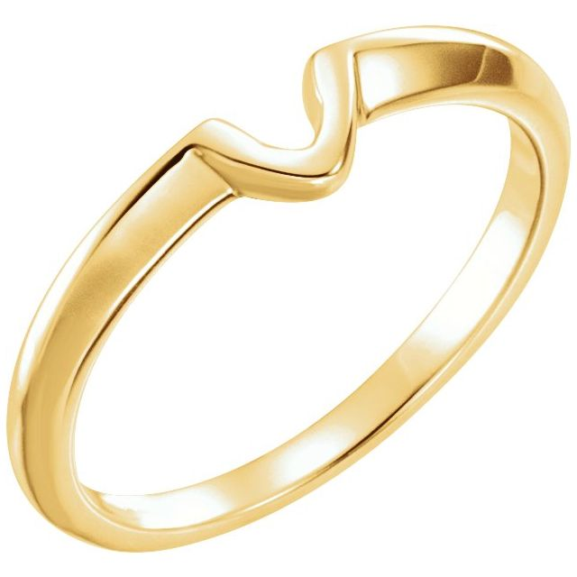 14K Yellow .50 CT Band for Solitaire Mounting