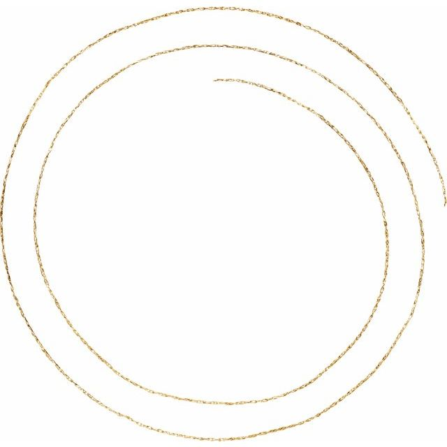 14K Yellow .75 mm Solid Rope Chain by the Inch