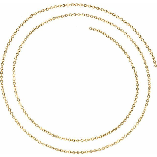 Yellow Gold Filled 1.5 mm Solid Cable Chain Per Inch