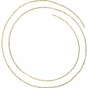14K Yellow Solid Diamond-Cut Bead Chain by the Inch
