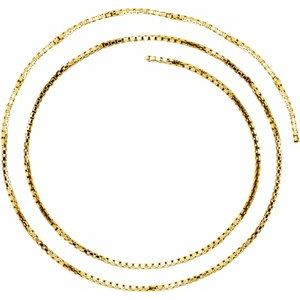 14K Yellow 1.75 mm Diamond Cut Box Chain by the Inch