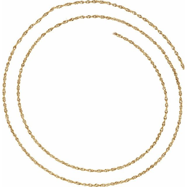 14K Yellow 1.5 mm Rope Chain by the Inch