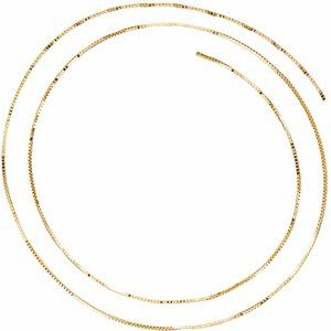 14K Yellow .75 mm Solid Box Chain by the Inch