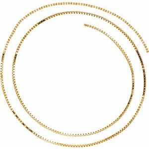 14K Yellow 1.3 mm Diamond Cut Box Chain by the Inch