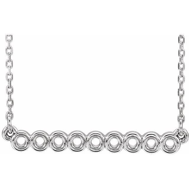 Sterling Silver Circle Bar 16