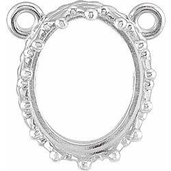 Oval Crown Design Gemstonenáhrdelník alebo neosadený