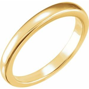14K Yellow Solstice Solitaire® #13-1.5-2.0 CT Tapered Bombé Matching Band