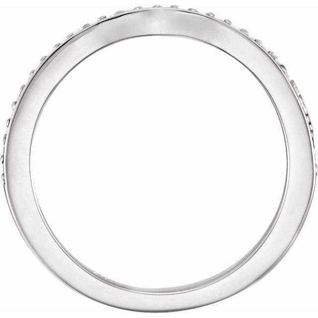 14K White Oval 1/8 CTW Diamond Band