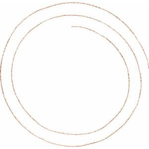 14K Rose .75 mm Solid Rope Chain by the Inch