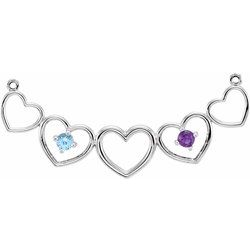 Heart Necklace or Center Mounting for Mother