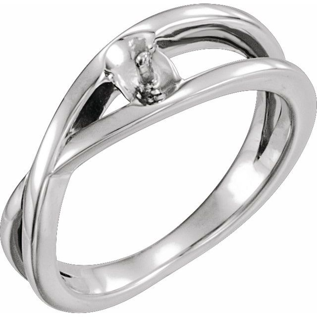 Sterling Silver 6 mm Solitaire Pearl Ring Mounting