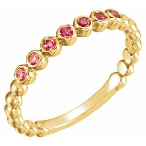 14K Yellow Ruby Stackable Ring
