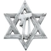 Star of David Chai Lapel Pin