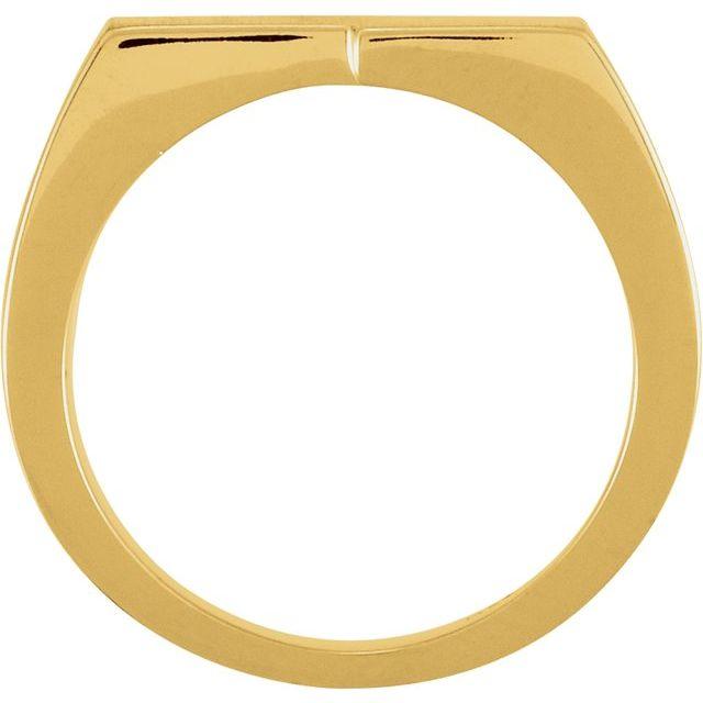14K Yellow 16x9 mm Rectangle Signet Ring