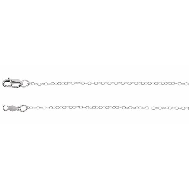 Sterling Silver 1.2 mm Flat Cable 18