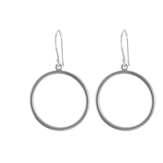 Sterling Silver Circle Shaped Earrings