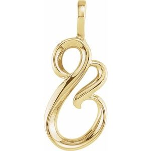 14K Yellow Freeform Pendant