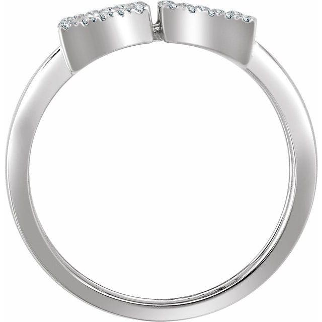 14K White 1/2 CTW Diamond Double Rectangle Geometric Diamond Ring