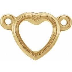Heart Bezel Necklace Center