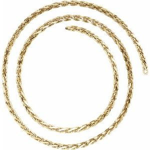 14K Yellow 2.75 mm Diamond Cut Wheat Chain by the Inch