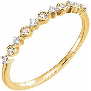 14K Yellow 1/10 CTW Diamond Ring Size 7