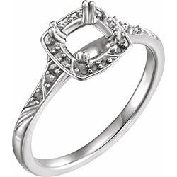 Diamond Sculptural-Inspired Engagement Ring, Semi-Mount or Mounting