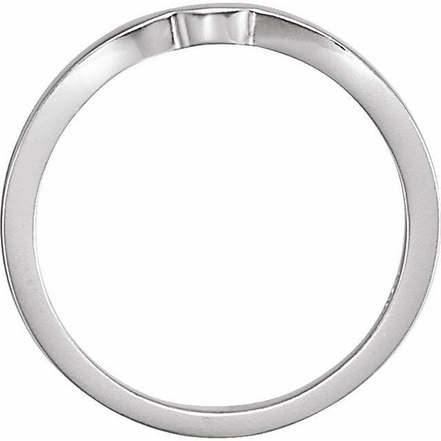14K White #1 Matching Band for Tulipset® Ring