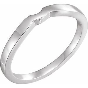 14K White #1 Matching Band for Tulipset® Ring