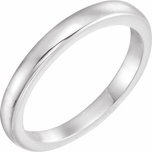 Platinum Solstice Solitaire® #10=.75-1.25 CT Tapered Bombé Matching Band