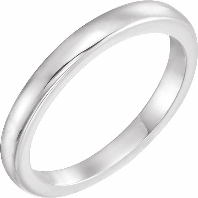 14K White Solstice Solitaire® #10=.75-1.25 CT Tapered Bombé Matching Band