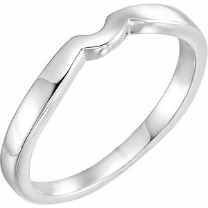 14K White #5 Matching Band for Tulipset® Ring