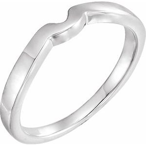 14K White #7 Matching Band for Tulipset® Ring