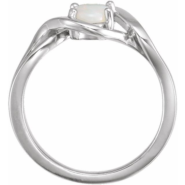 14K White Opal Freeform Ring