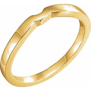 14K Yellow #1 Matching Band for Tulipset® Ring