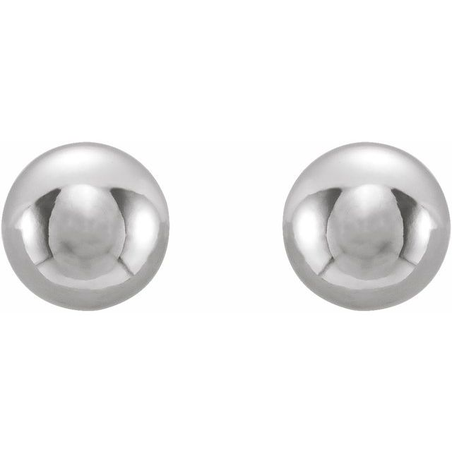 Stainless Steel 3 mm Ball Stud Piercing Earrings