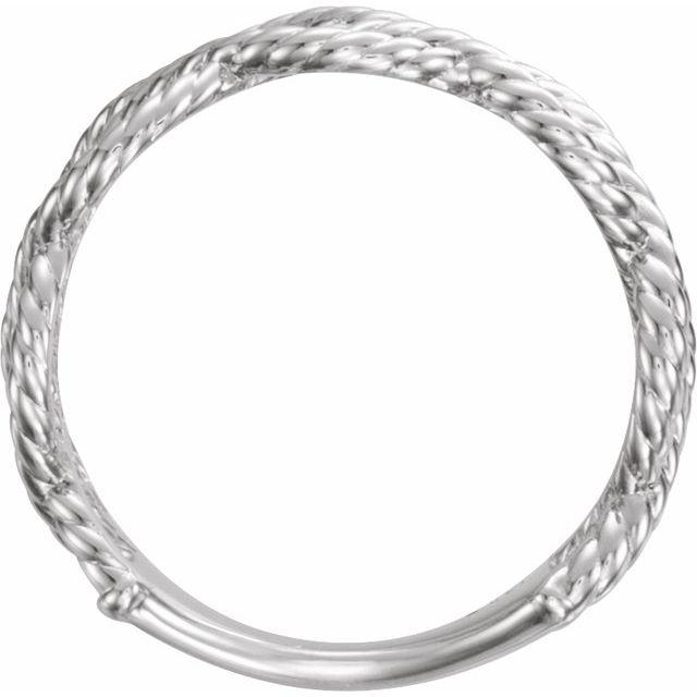 14K White Rope Ring