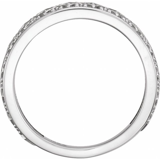 14K White Stackable Ring