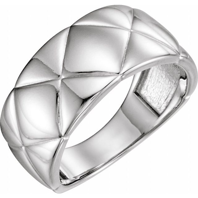 Sterling Silver Quilted Ring